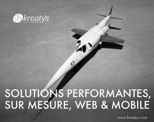 Kreatys - développer des applications spécifiques à l'aide des technologies web de haute qualités